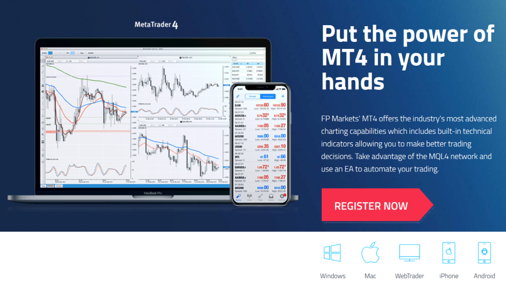 FP Markets Review: MetaTrader 4 Trading Platform