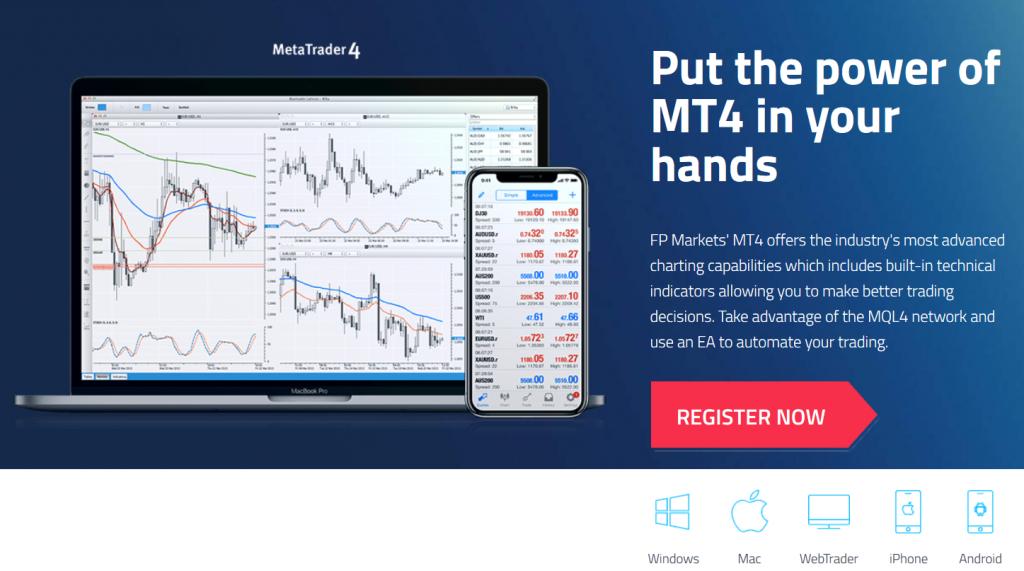 FP Markets MetaTrader 4 Trading Platform