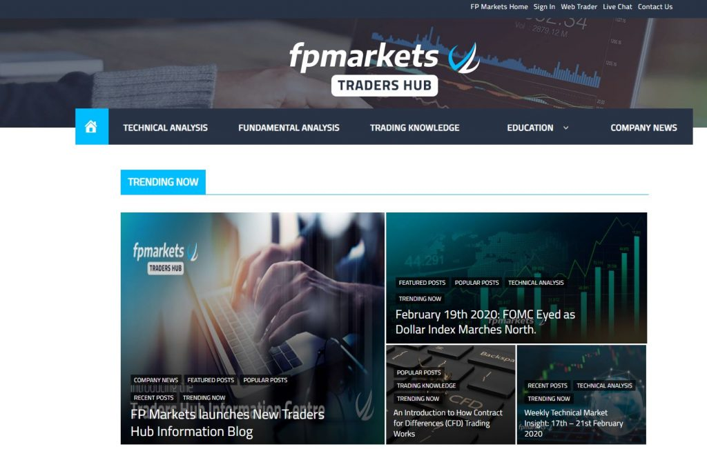 FP Markets Review: Traders Hub Blog
