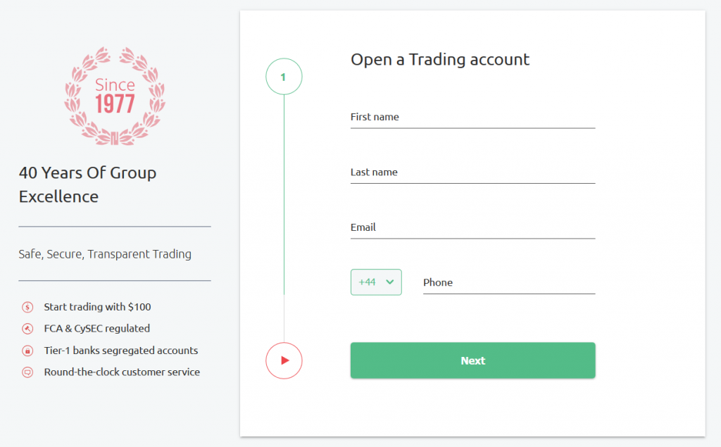HYCM Review: Account Opening Form