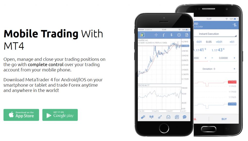 HYCM Review: Trading Platform (MT4 mobile app)
