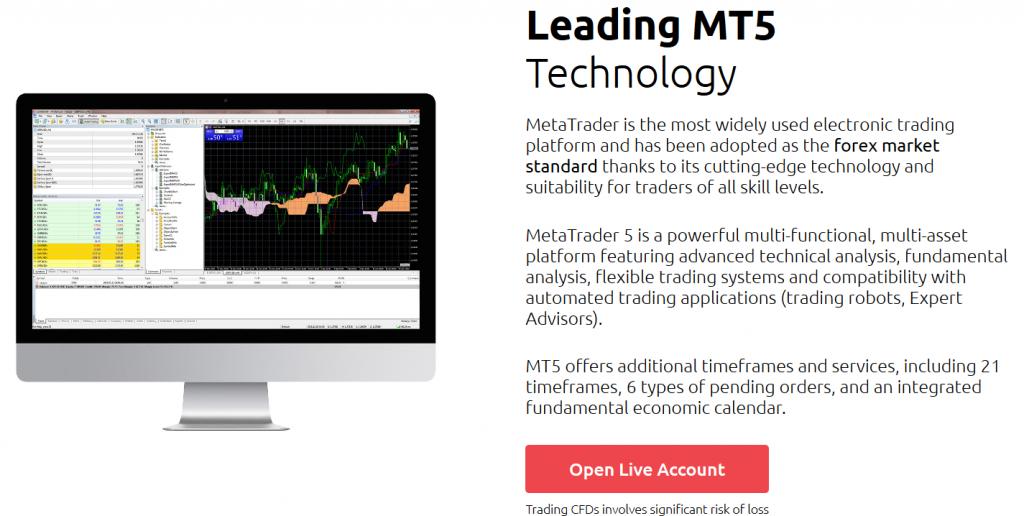 HYCM Review: Trading Platform (MT5)
