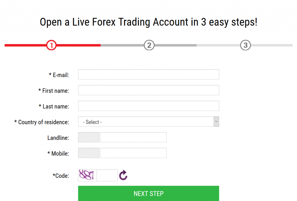 IronFX Review: Account Opening
