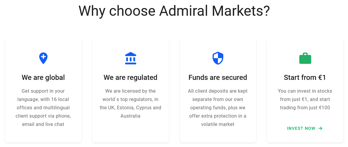 Admiral Markets Features
