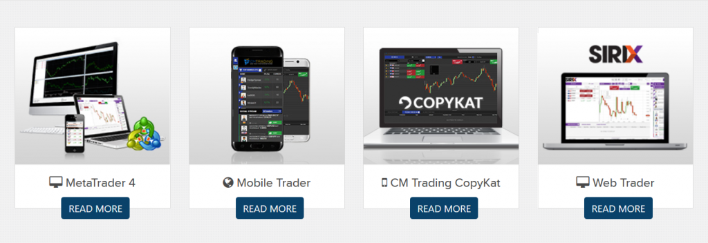 CM Trading Review:  Platforms