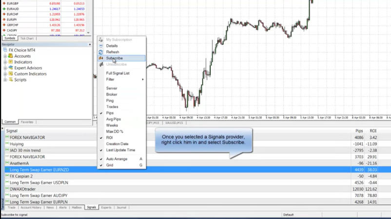 FXChoice Review: MQL5 Signals