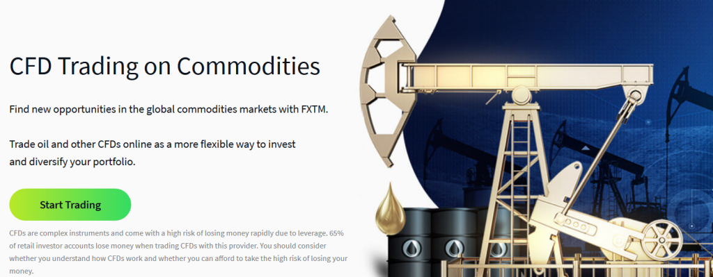 FXTM CFD Trading on Commodities