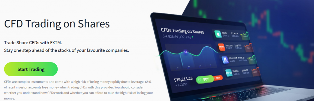 FXTM Review: CFD Trading on Shares