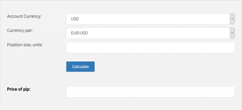 LMFX Review: Pip Value Calculator