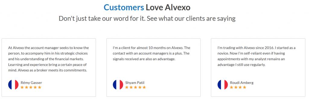 Alvexo Review: Customer Testimonials