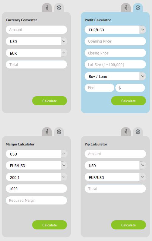 Alvexo Review: Trading Calculators