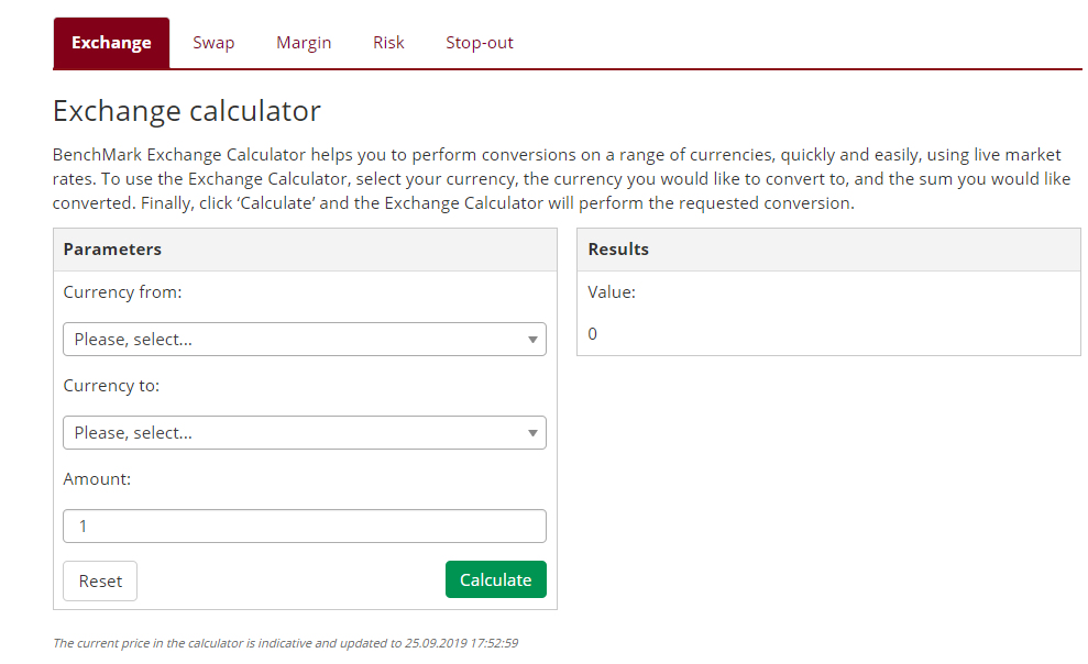 BenchMark Review: Trading Calculators