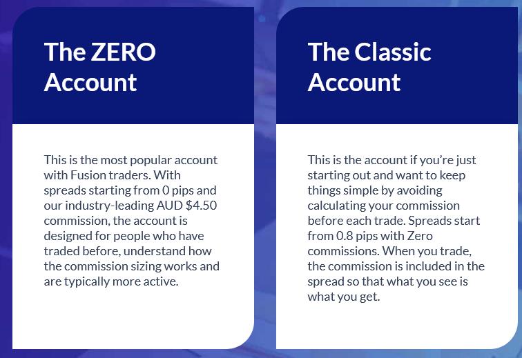Fusion Markets Accounts