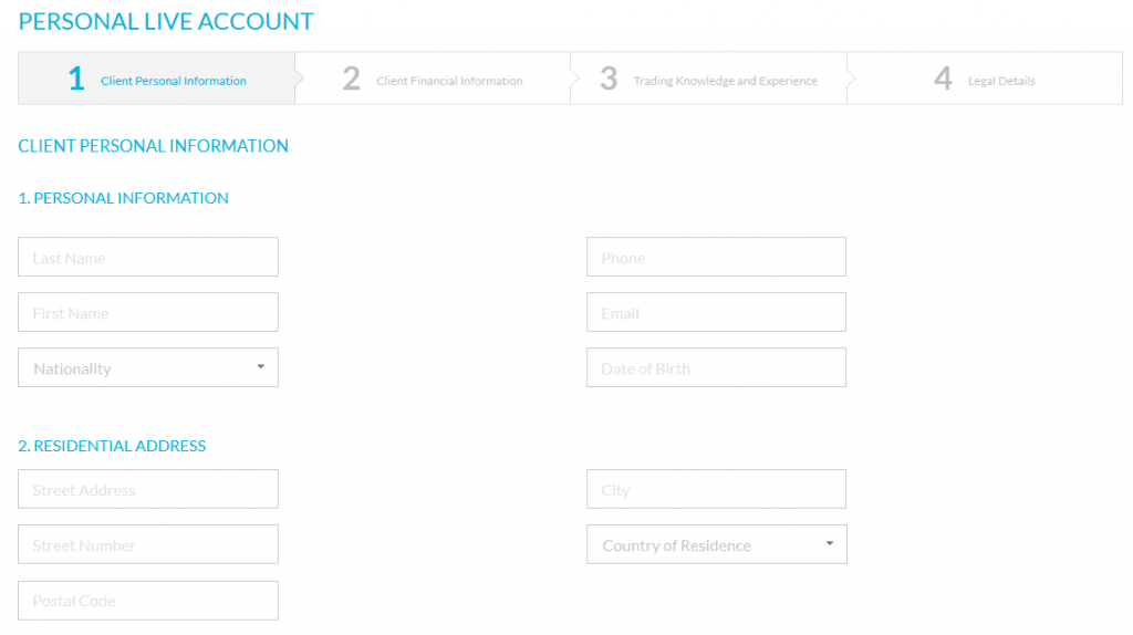 JFD Account Registration Form