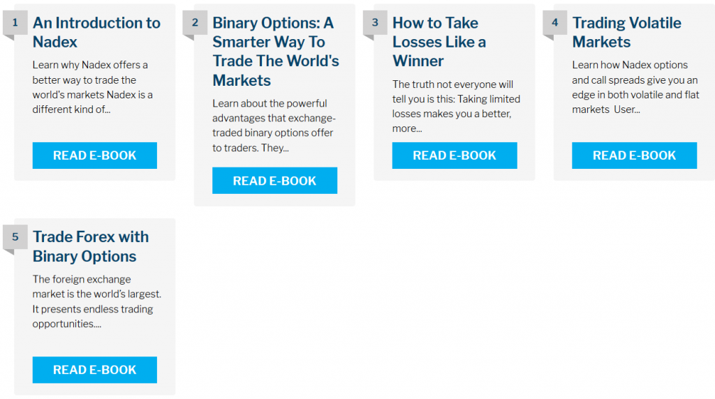 Nadex Review: Trading eBooks