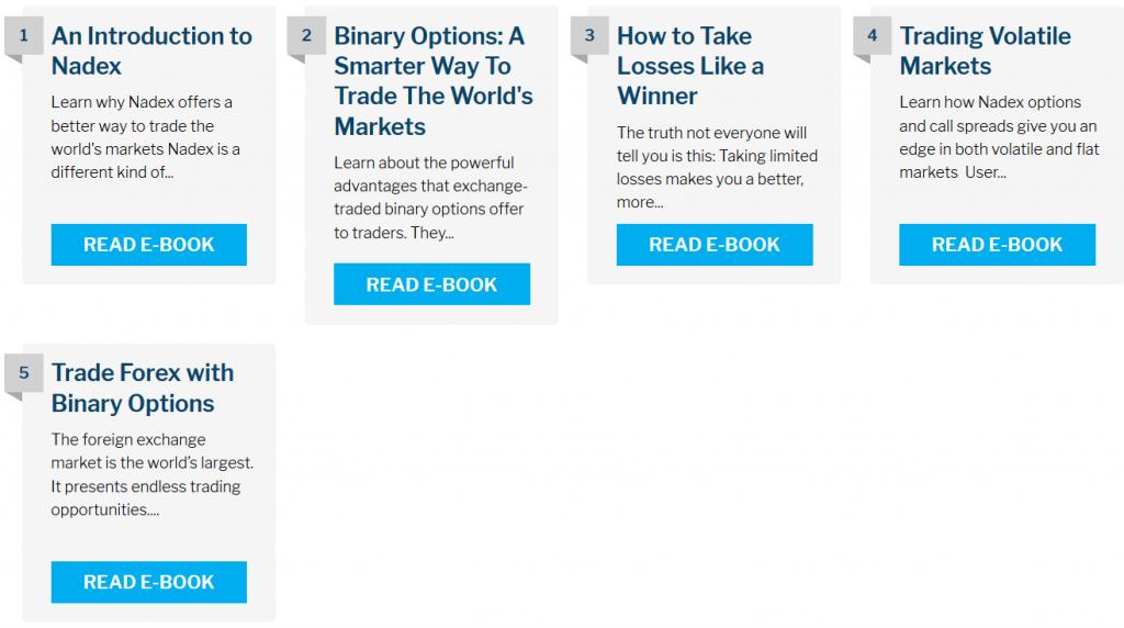 Nadex Trading eBooks