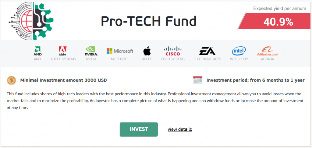 NordFX Review: Pro-TECH Fund