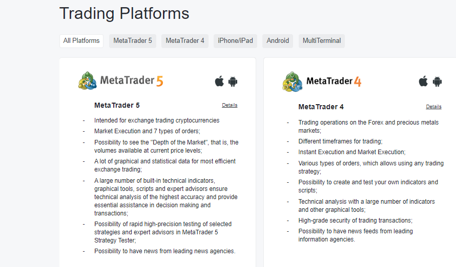 NordFX Review: Trading Platforms