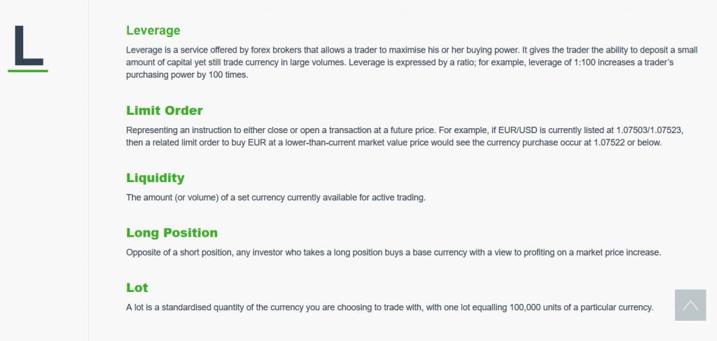 Valutrades Trading Glossary