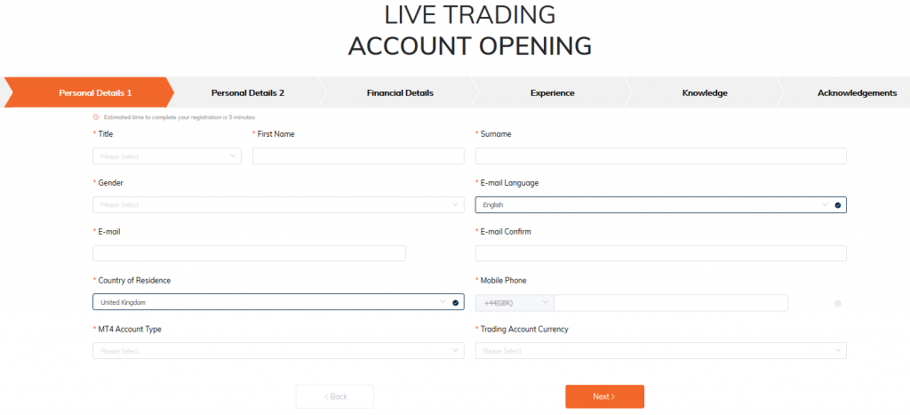 ATFX Review: Online Trading Account Application