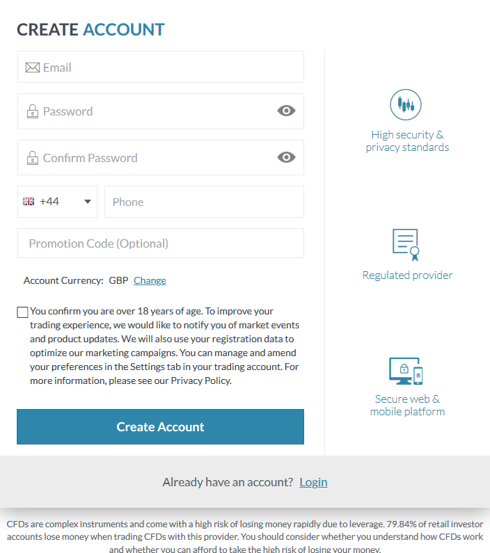 CAPEX Review: Online Broker Account Application