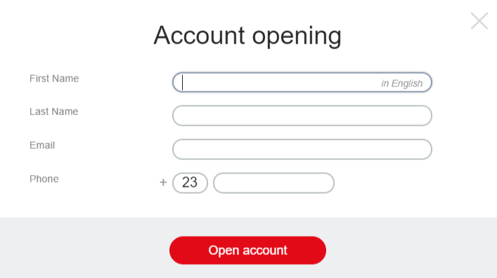 FIBO Group Review: Broker Account Opening Form
