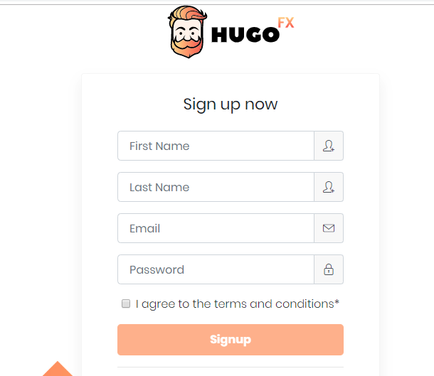 Hugo's Way Review: Account Signup