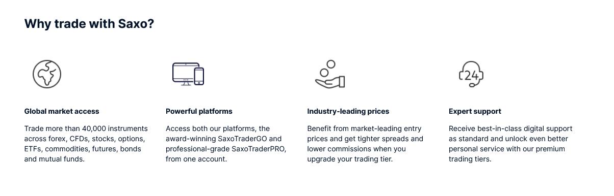 Saxo Broker Features