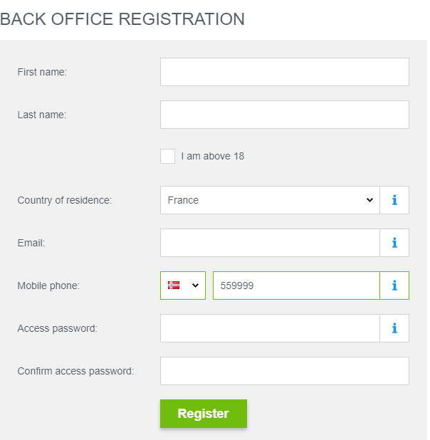 JustForex Review: Broker Account Registration