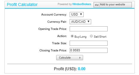 Windsor Brokers Review: Forex Calculator