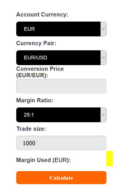 GBE Brokers Margin Calculator