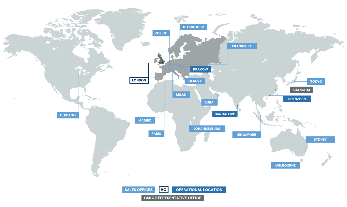IG Group's Offices Worldwide