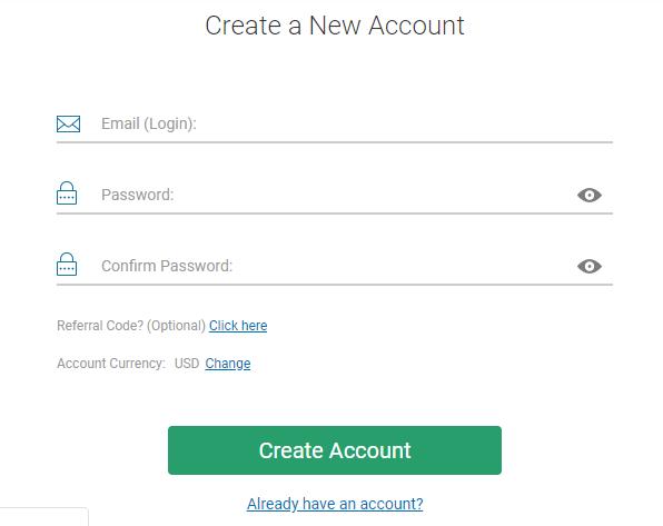 Trade.com Review: Account Registration Form