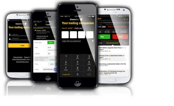CommSec Mobile Trading Application