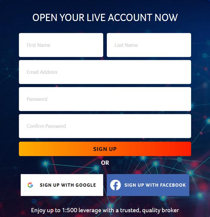 CryptoRocket Review: Registration Form