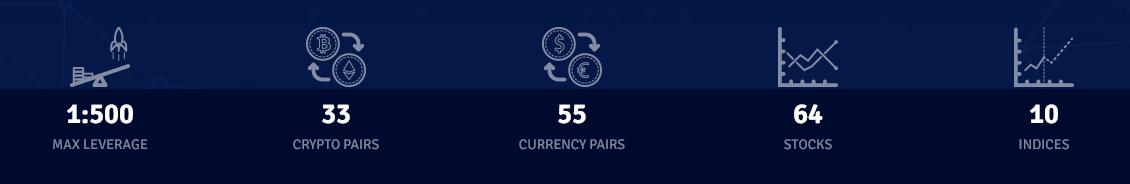 CryptoRocket Trading Instruments
