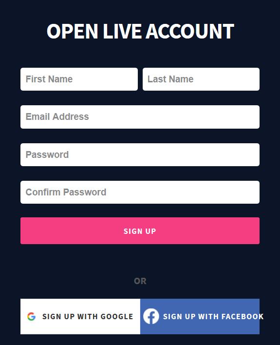 EagleFX Review: Application Form