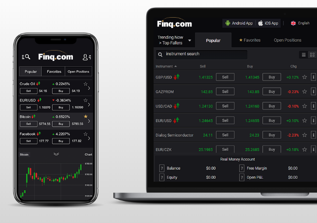 Finq Review: WebTrader Platform