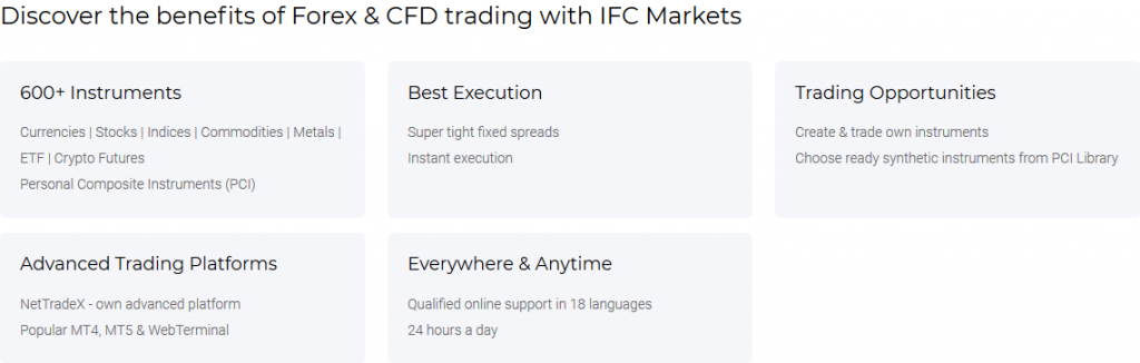 IFC Markets Review: Broker Features