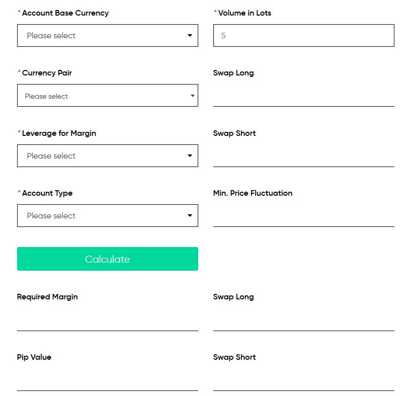 Trading.com Review: Forex Calculator