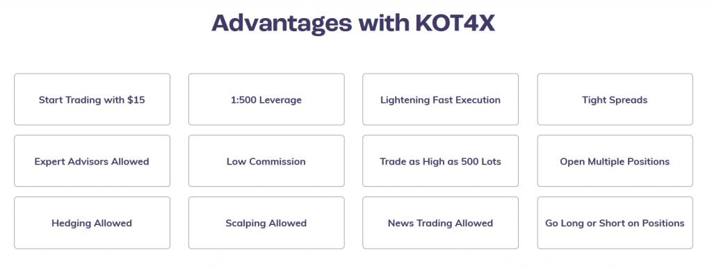 KOT4X Review: Broker Features