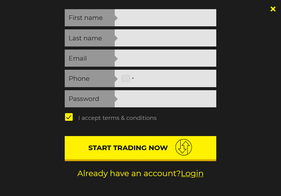 ASKoBID Review: Account Opening Form