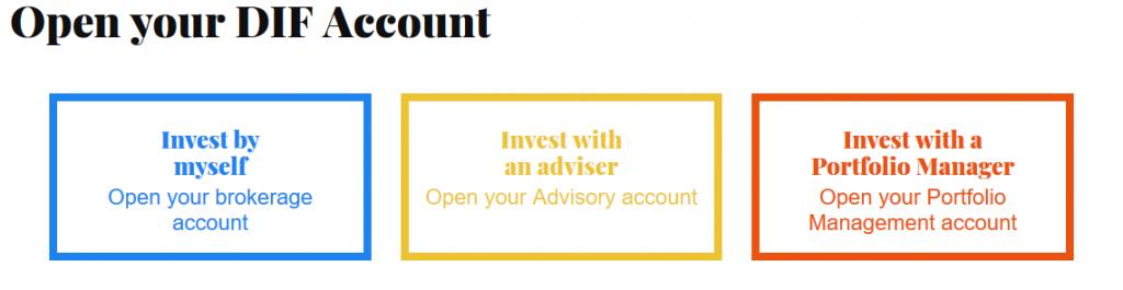DIF Broker Account Opening