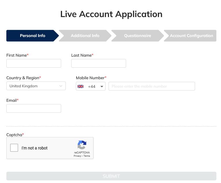 FXTRADING.com Broker Application Form