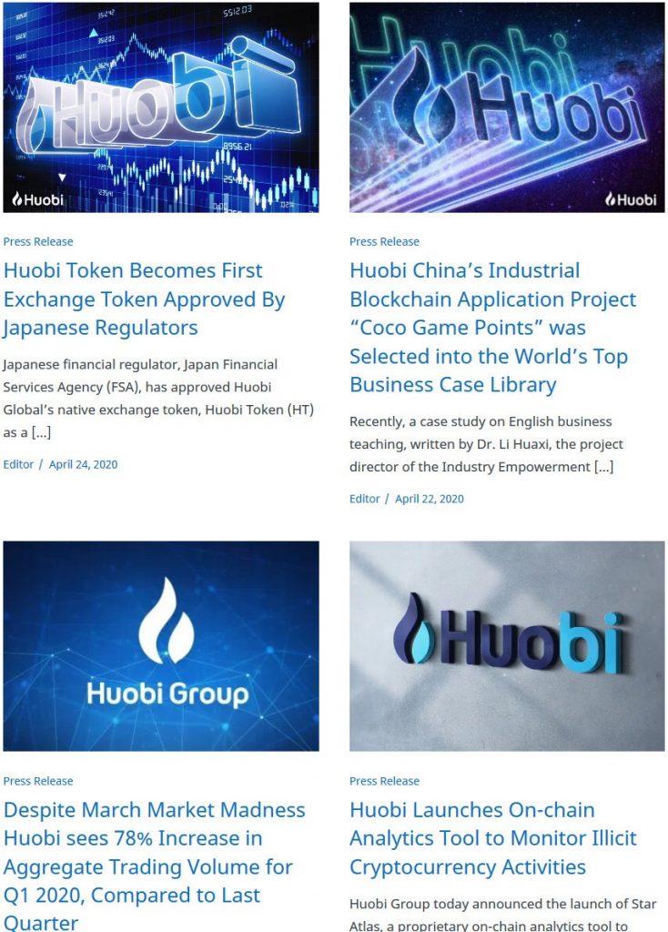 Huobi Global Review: Blog
