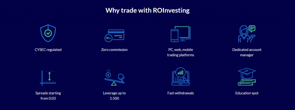 ROinvesting Review: Broker Features