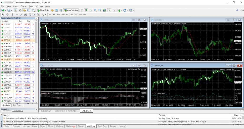 Fxview MetaTrader Platforms