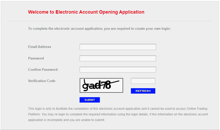 CGS-CIMB Account Opening Page