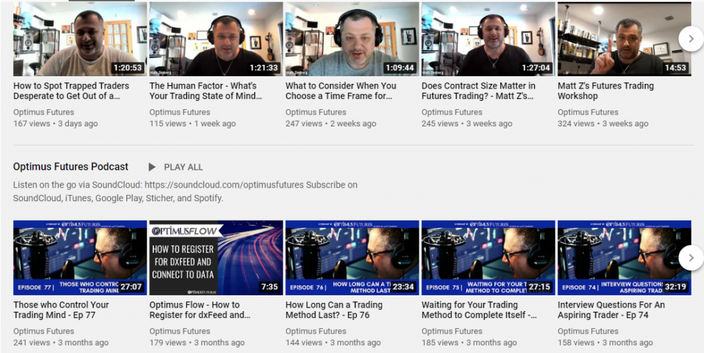 Optimus Futures Video Library