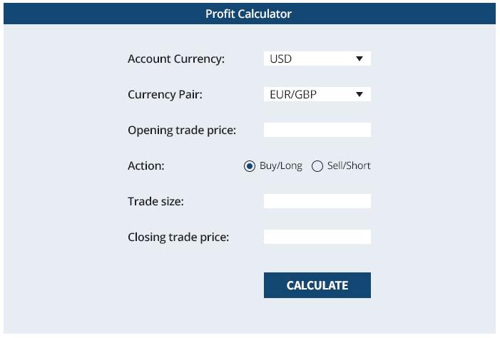 Finotrade Trading Calculator